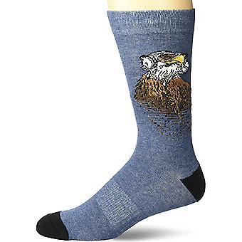 Mannen bemanning sokken-K Bell-Eagle Eye Amerikaanse gemaakt denim Heather (10-13)