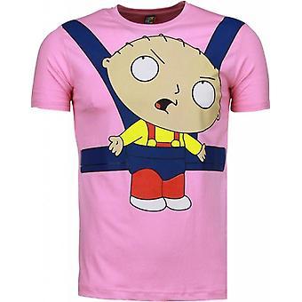 Bebé Stewie-Camiseta-Rosa