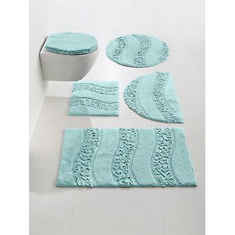 Heine home bathroom carpet bathroom tray with ruffle application microfiber ca 45x50 cm