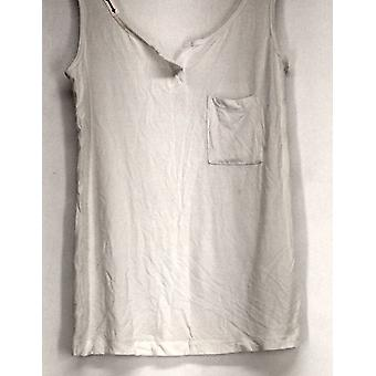 Lisa Kline Top Tank Style w/ Front Patch Pocket White Womens 494-581