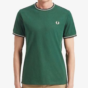 Fred Perry M1588 Twin Tipped T-shirt Ivy