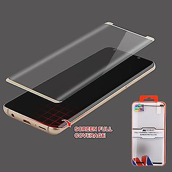 MYBAT Full Coverage Tempered Glass Screen Protector/Gold for Galaxy Note 9