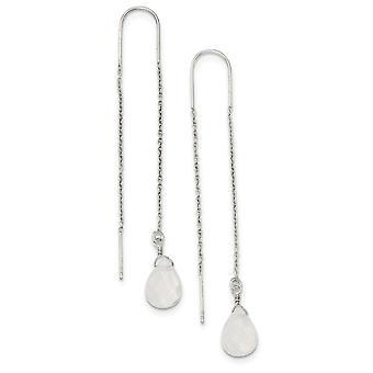 925 plata esterlina simulada Opalite Threader pendientes de joyería regalos para las mujeres
