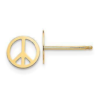 14k Geel Goud gepolijst Vrede Teken Post Oorbellen Sieraden Geschenken voor vrouwen
