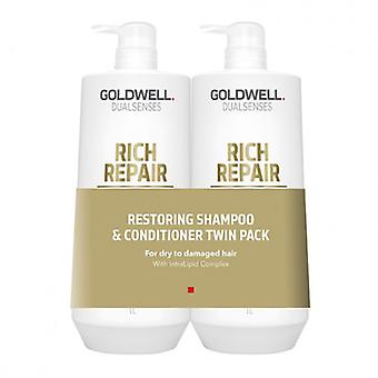Goldwell Dualsenses Rich Repair Shampoo and Conditioner 1000ml