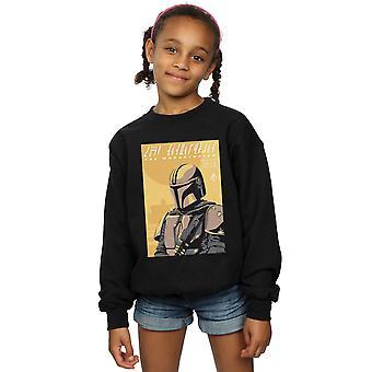 Star Wars Girls The Mandalorian Art Poster Sweatshirt