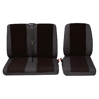 Pokrowce na siedzenia pojedyncze i podwójne dostawczy dla Nissan Primastar Van