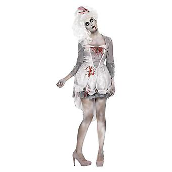 Womens Zombie georgischen Halloween Fancy Kleid Kostüm