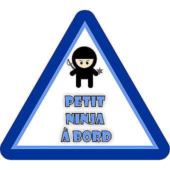 Sticker Sticker Macbook Laptop Bebe Child A Bord Petit Ninja Garcon