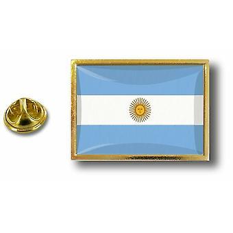 باين بينس شارة دبوس أبوس؛ معدن مع فراشة فرشاة الأرجنتين العلم الأرجنتيني