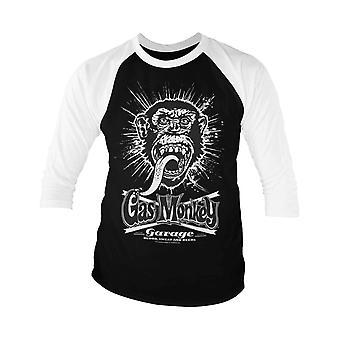 Gas Monkey Garage Baseball Shirt GMG Explosion Logo Officiel Homme 3/4 Manche