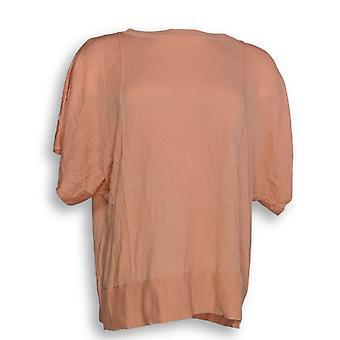 H by ハルストン ウーマン's セーター バトー ネック ショート スリーブ ピンク A275413