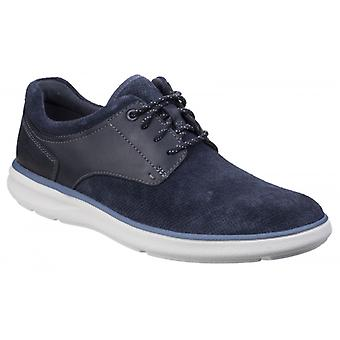 Rockport Zaden Mens Leather Casual Trainers Navy