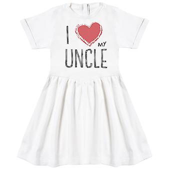 I Love My Uncle Red Heart Baby Dress