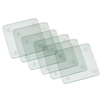 Set of 6 Glass Coaster great for parties 10x10cm