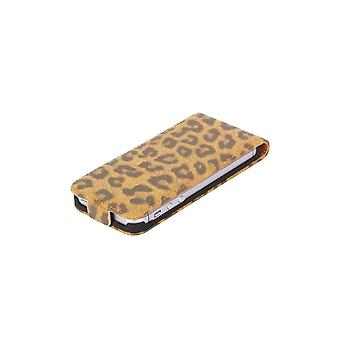 Luxury Pattern Cover Leopard Brown Vertical Overture For IPhone 5