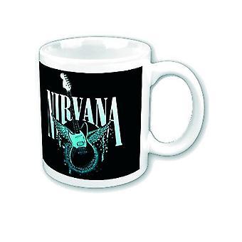 Nirvana Mug Jag-Stang Fender Wings band logo new official Boxed