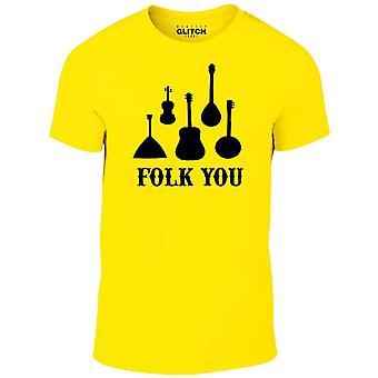 Homens ' s folk você t-shirt
