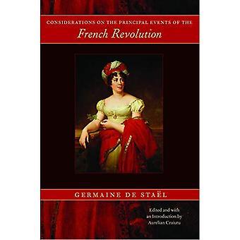 Considérations sur les événements principaux de la révolution Français
