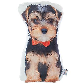 Yorkie Dog Shape Filled Pillow, Animal Shaped Pillow