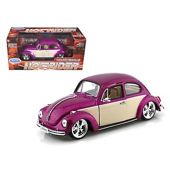 Volkswagen Beetle Low Rider Purple 1/24 Diecast Car Model par Welly