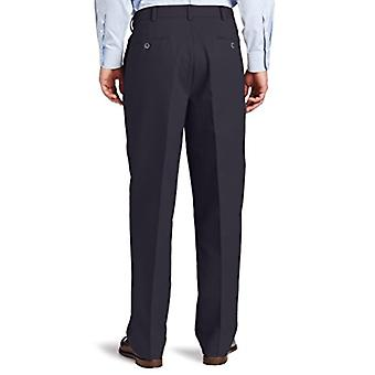 Dockers Men-apos;s Comfort Khaki Stretch Relaxed-Fit Flat-Front, Bleu, Taille 40W x 30L