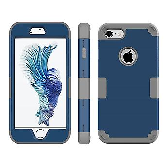 For iPhone SE(2020), 8 & 7  Case,Modish Triple Layer Armour Durable Shielding Cover,Dark Blue
