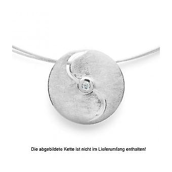 Bastian Inverun - ladies - 925/- pendant - matted, diamond 0.03ct - 26110