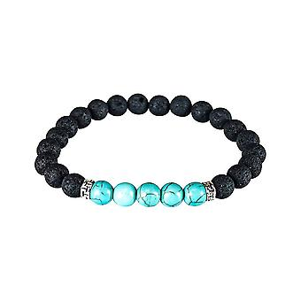 Bracelet with volcanic stone - Turquoise