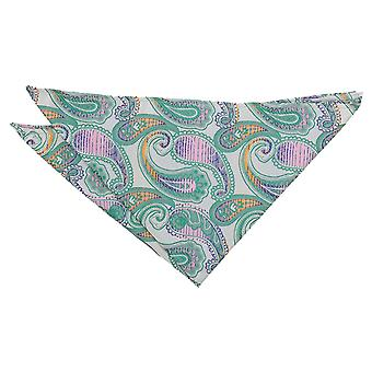 Mint Groene Willow Paisley Pocket Square
