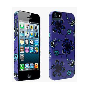 PopnGo Paisley Print Hard Cover Case for iPhone 5/5s - Purple design