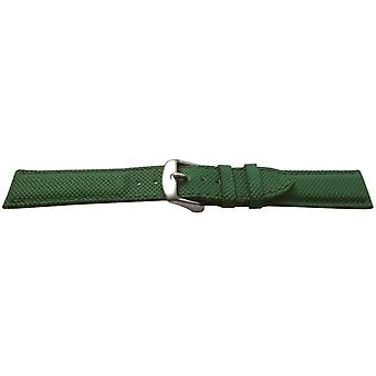 Rubber water resistant watch strap green textured size 16,18 and 20mm stainless steel buckle
