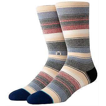 Stance Roman Socks - Khaki/Red/Blue