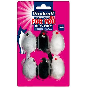 Vitakraft Plush Mouses Cats for you 6 (Cats , Toys , Mice)