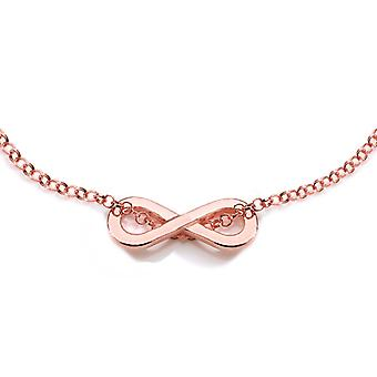 Ah! Jewellery 18K Rose Gold Vermeil Infinity Necklace, Stamped 925