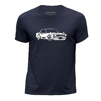 STUFF4 Boy's Round Neck T-Shirt/Stencil Car Art / 2000 GT-R/Navy Blue