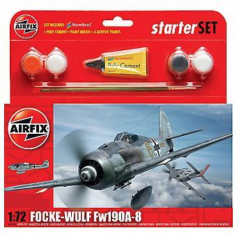Airfix A55110 1:72 Échelle Focke Wulf 190A-8 Starter Set Model Kit