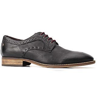 Base London Mens Haddon Softy Couro Renda Up Sapatos de Derby