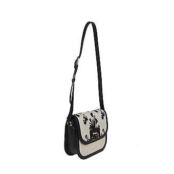 Furla 1065959 Women's Beige/black Other Materials Shoulder Bag