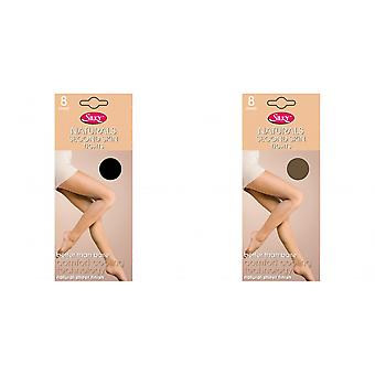 Silky Womens/Ladies Naturals Second Skin Tights (1 Pair)