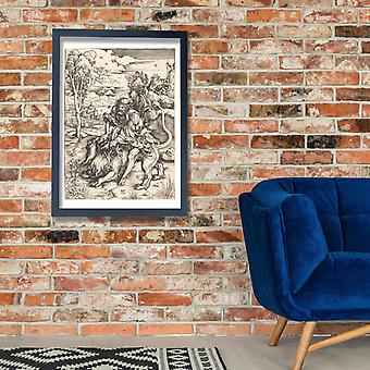 Albrecht Dürer - Samson im Kampf mit den Löwen Poster Print Giclee