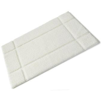 אורלה לבן גומי מלא מגובה microfibre מחצלת באמבטיה בודדת 50 ס מ x 80 ס מ