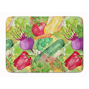 Watercolor Vegetables Farm to Table Machine Washable Memory Foam Mat