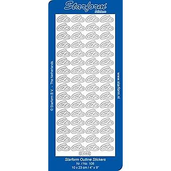 Starform Stickers Wedding rings 1 (10 Sheets) - Silver - 0108.002 - 10X23CM