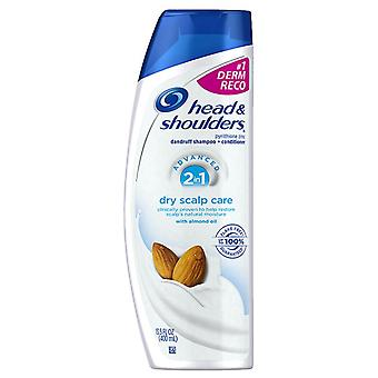 Head & shoulders advanced 2-in-1 dry scalp care with almond oil, 13.5 oz