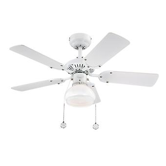 Ceiling fan Princess Radiance II White with Light