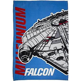 Star Wars viralliset lasten/lasten Millennium Falcon fleece huopa