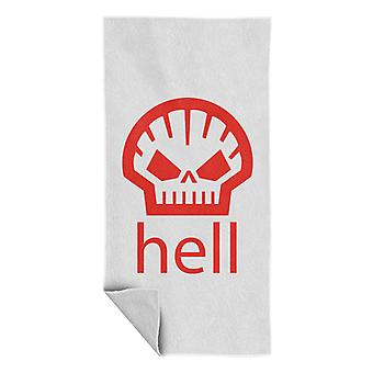 Hell Shell Logo som bärs av Heath Ledger Beach Towel