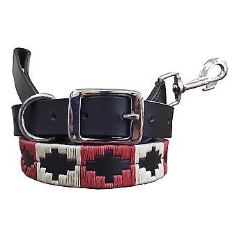 Carlos diaz genuine leather  polo dog collar and lead set cdkupb803