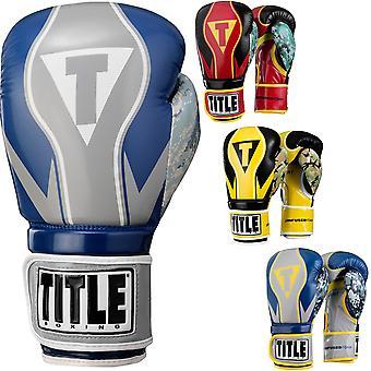 Titre de boxe infusé mousse honneur Combat crochet et boucle gants d'entraînement